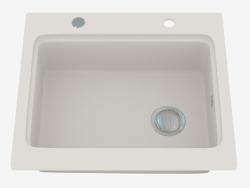 Fregadero, 1 recipiente sin ala para secar - Alabaster Modern (ZQM A103)
