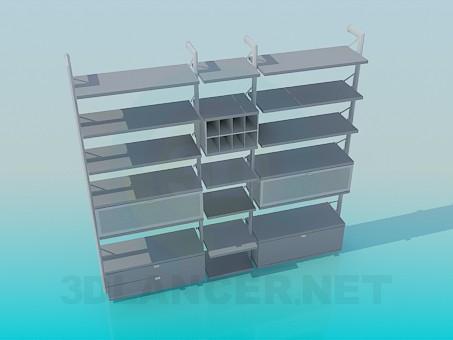 3d модель Меблі для книг – превью
