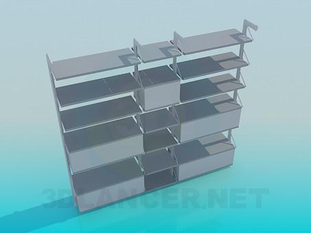 3d модель Мебель для книг – превью