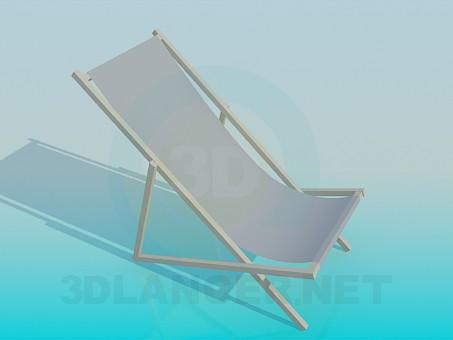 3d моделювання Пляжний лежак модель завантажити безкоштовно