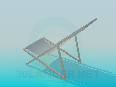 3d model Beach sunbed - preview