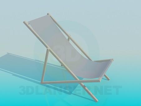 3d модель Пляжный лежак – превью