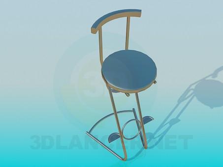 3d модель Барный стул – превью