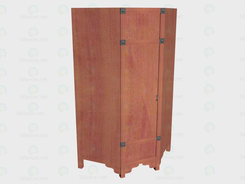 Угловой шкаф 3d модель