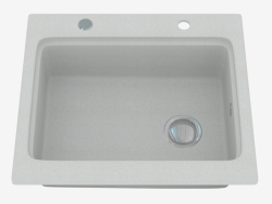 Sink, 1 bowl without wing for drying - gray metallic Modern (ZQM S103)
