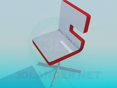 3d model A chair on the stem - preview