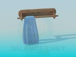 लकड़ी तौलिया रैक