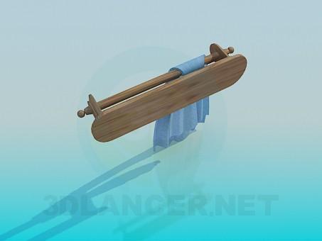 3d модель Дерев'яний полотенцедержатель – превью