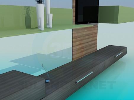 3d модель Мебель в гостиную – превью