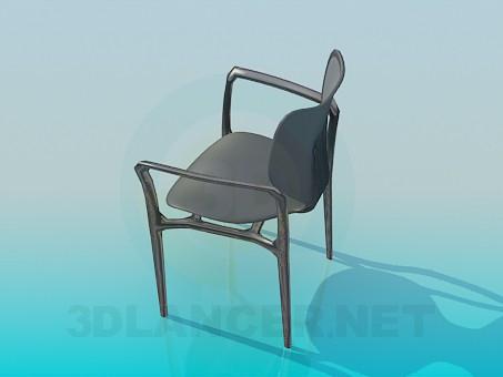 3d модель Стілець на металевій основі – превью