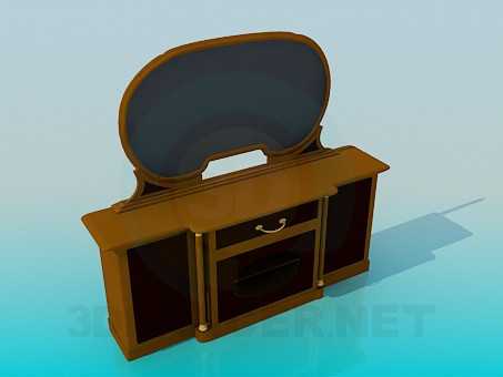 3d modeling Floor Mirror model free download
