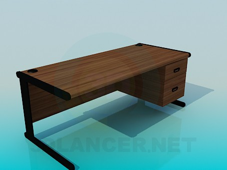 3d model The desk - preview