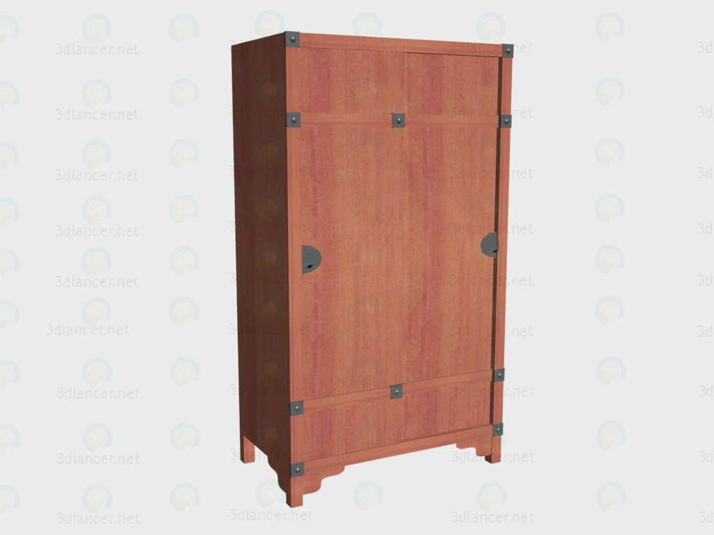 3d model Wardrobe with sliding doors VOX - preview