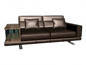 Sofa with pedestal Vero