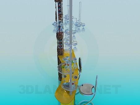 modelo 3D Contador de la barra - escuchar