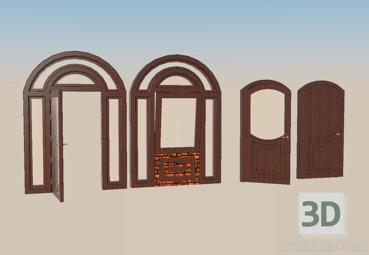 3d model Doors and window - preview