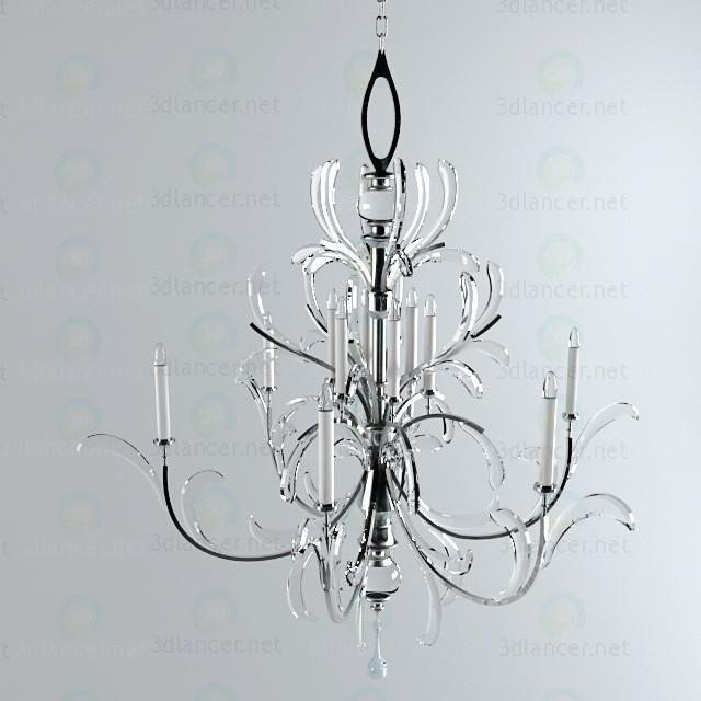 3d model fine art lamp chandelier 701340 ST - preview
