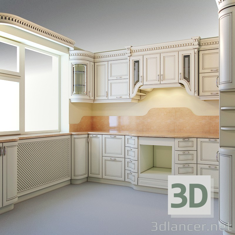 3d model kitchen design style african download for free for Model kitchen images
