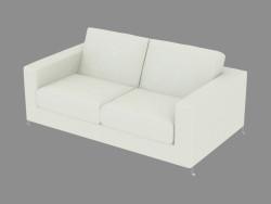 sofás de couro Duplo Div 155