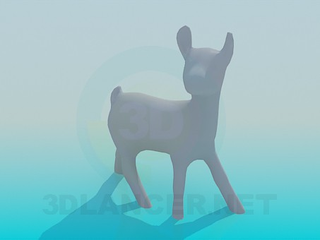 3d model fawn - preview