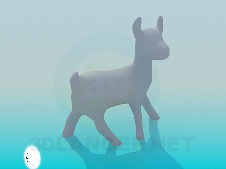 modelo 3D Fawn - escuchar