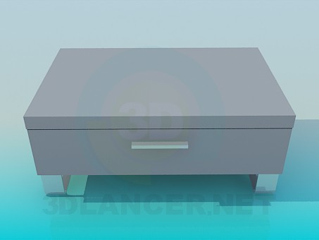 3d model Bajo de pie con cajón - vista previa