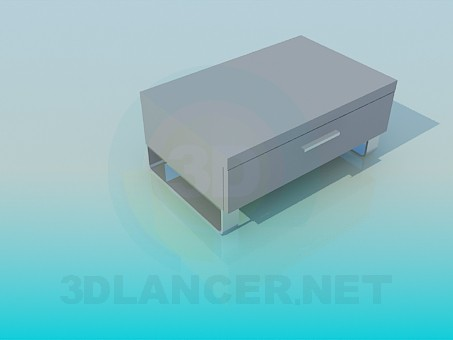 3d model Low stand with drawer - preview