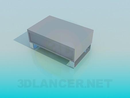 modelo 3D Bajo de pie con cajón - escuchar