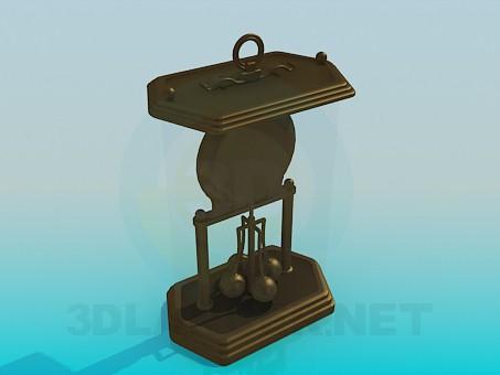 3d model Souvenir clock - preview