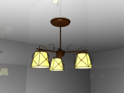 Lampadario con 3 lampade