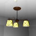 3d модель люстра 3 лампи – превью