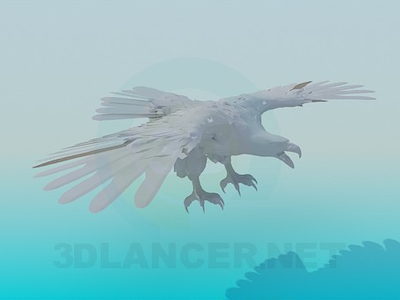 3d model Flying eagle - preview