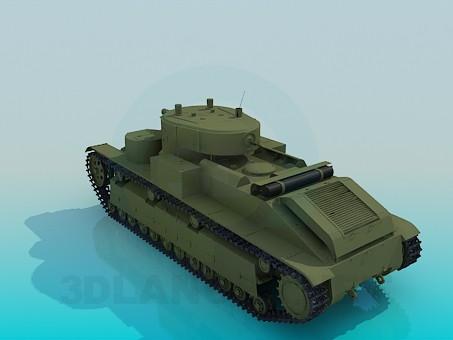 3d модель Т-28 – превью
