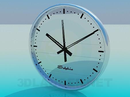 modelo 3D Reloj de pared - escuchar