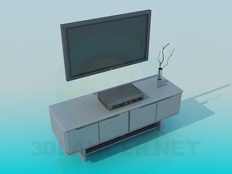 modelo 3D Muebles para TV - escuchar