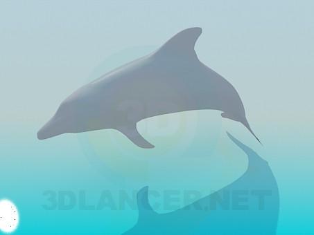modelo 3D Delfín - escuchar