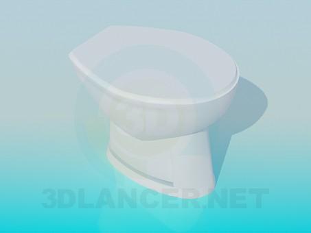 descarga gratuita de 3D modelado modelo Inodoro con tapa