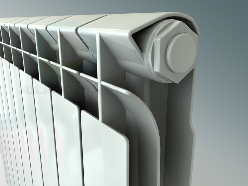 3d model Standard radiator (battery) - preview
