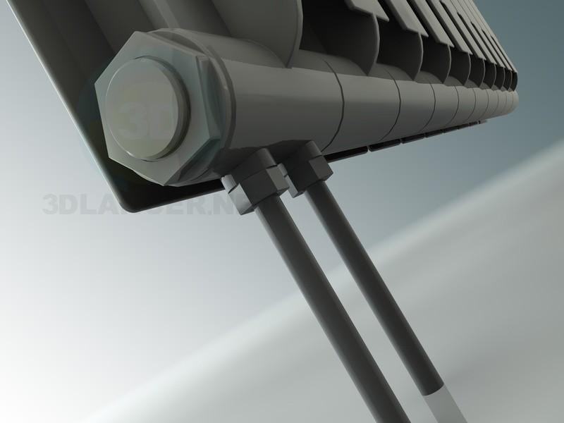 3d модель стандартный радиатор (батарея) – превью
