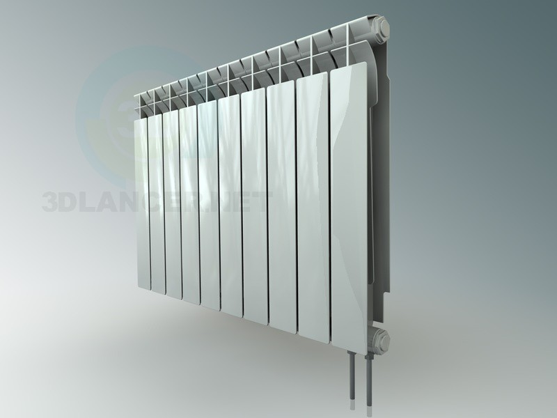 3d modeling standard radiator (battery) model free download