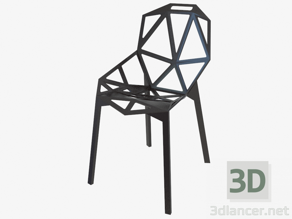 3d model konstantin grcic chair one manufacturer design icons id 24847. Black Bedroom Furniture Sets. Home Design Ideas