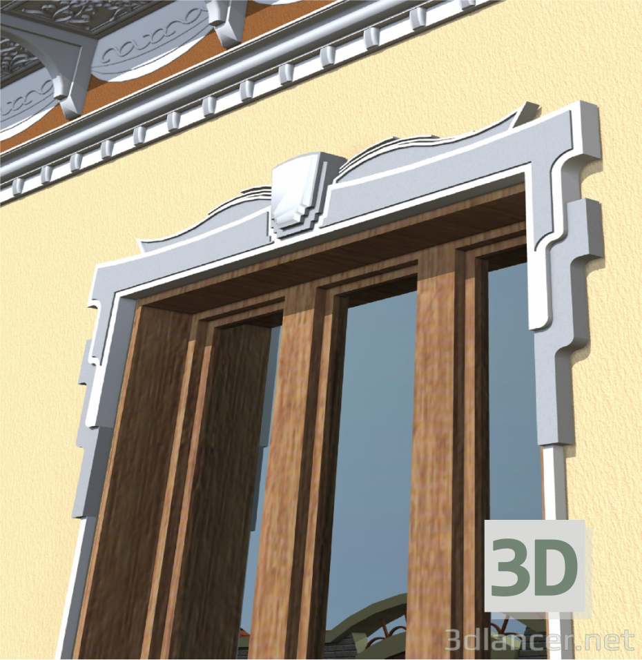 3d Model Window Frame 3ds Pln Free Download 3dlancernet