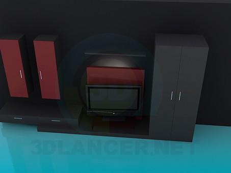 3d моделирование Мебель в гостинную модель скачать бесплатно