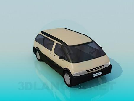 3d modeling Minivan model free download