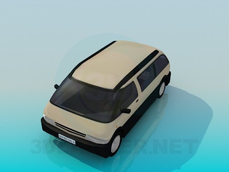 3d model Minivan - preview