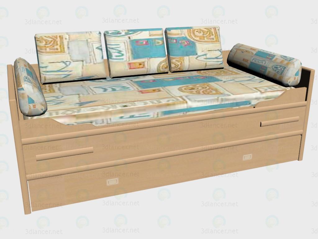 3d моделирование Диван-кровать модель скачать бесплатно