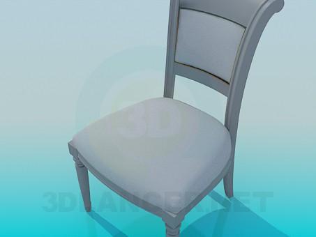 3d модель Мягкий стул – превью