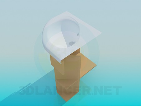 3d модель Угловой рукомойник – превью