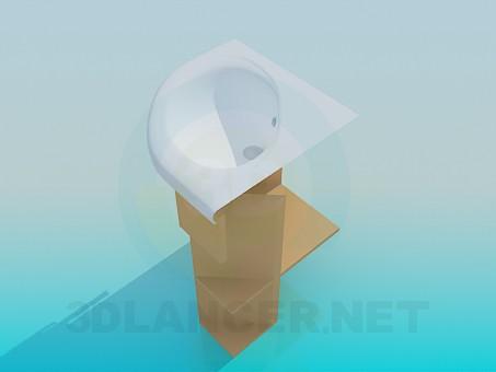 3d model Corner vanity - preview