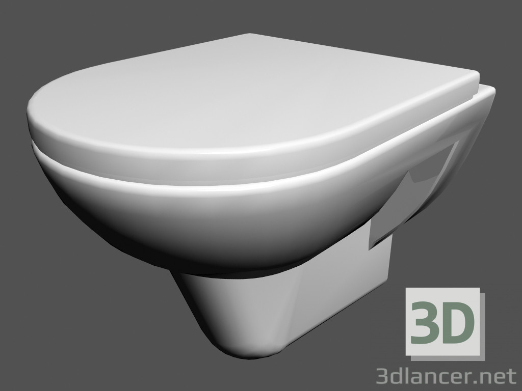 3d model toilet bowl wall mounted l pro wc4 820952 manufacturer laufen download for free on - Toilet toilet model ...